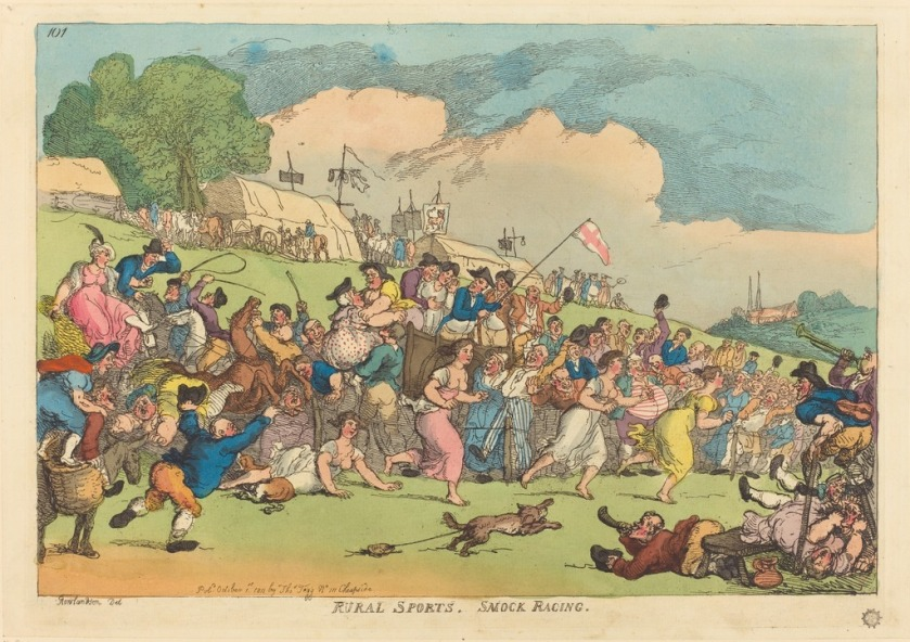 thomas-rowlandson-rural-sports-smock-racing-published-1811